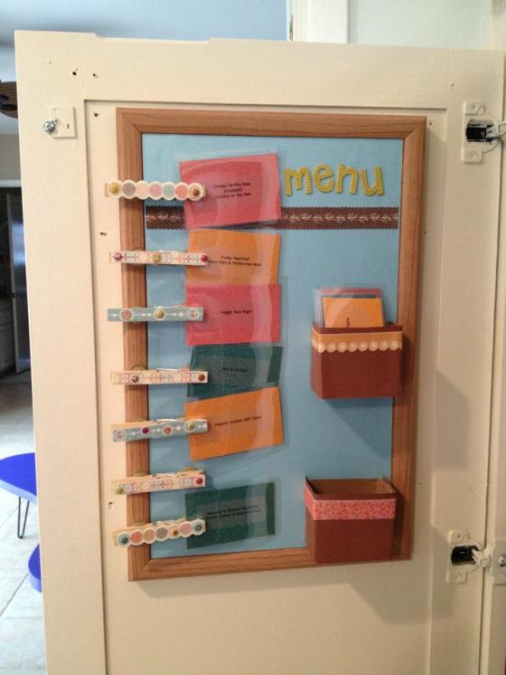 Meal Planning Board - With Cards ... Inside my pantry