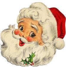 vintage cheery santa