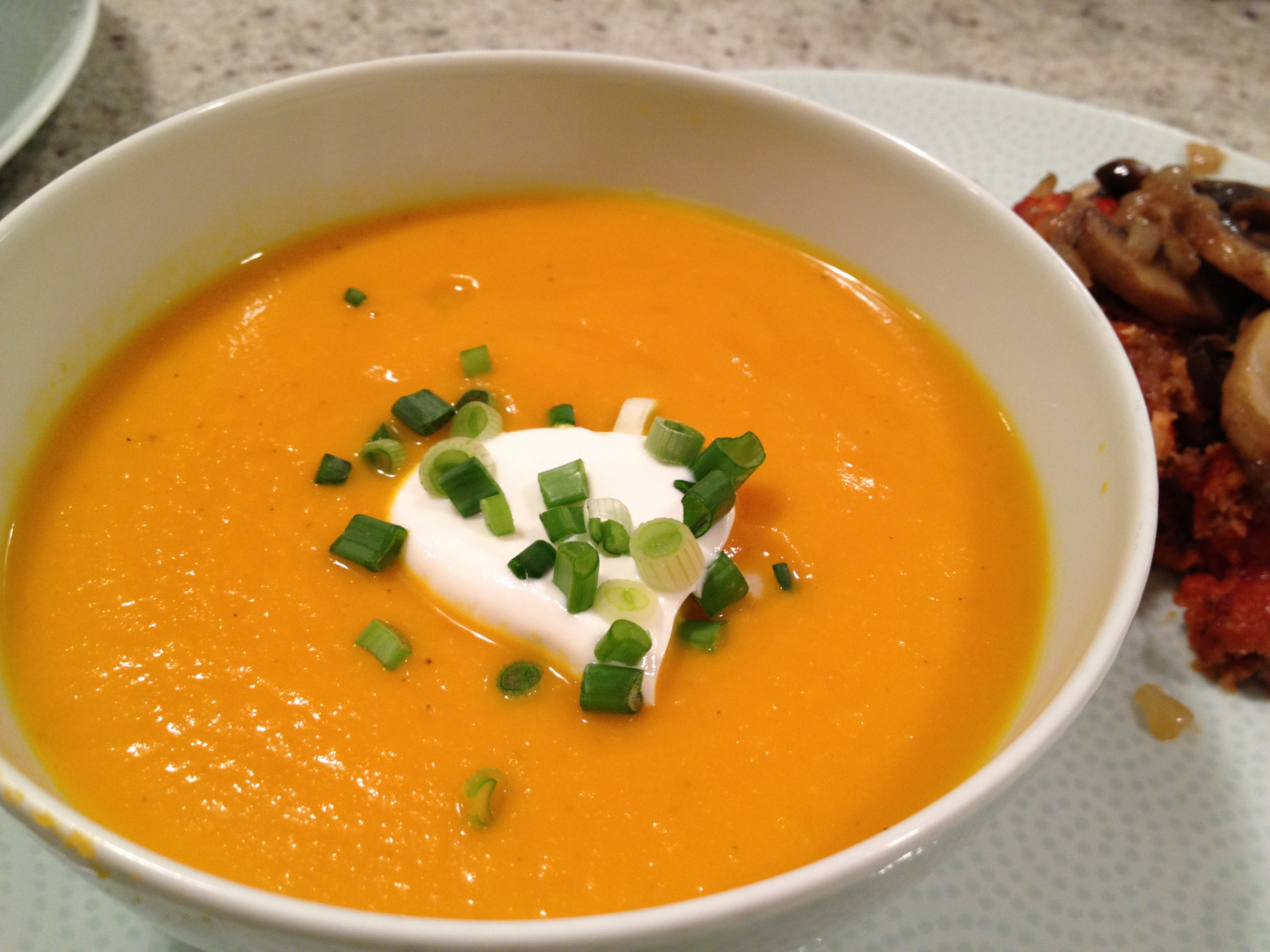 Gingered Sweet Potato & Carrot Soup | The Fairly Good Mother